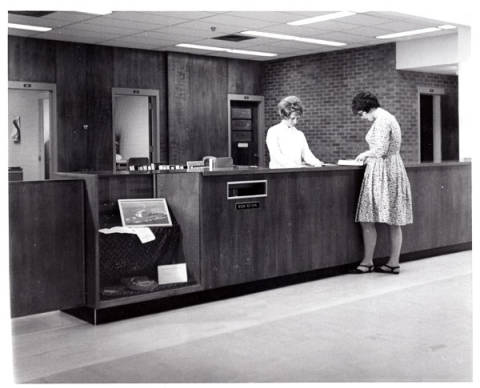 McKay Library Circulation Desk 1970's