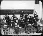 Image of Photograph of typewriting class in the Academy Building