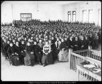 Image of Photograph of assembly in College Hall