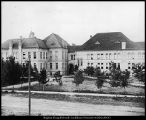 Photograph of College Building and Academy Building, circa 1898