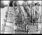 Image of Photograph of men's gym class in the Training School gymnasium