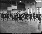 Brigham Young University Alumni Association photograph of women's physical education class in Training School gymnasium