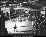 Image of Photograph of basketball game in the Training School gymnasium