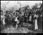 Image of Photograph of groundbreaking for Women's Gymnasium