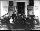 B. F. Larsen photograph of Brigham Young University orchestra