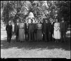 Photograph of President Brimhall and Dr. Jensen with some members of the class of 1914