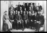 [College faculty in front of the Maeser Memorial Building, 1913]
