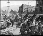 [Parade on University Avenue in Provo on Pioneer Day, July 24, 1912]