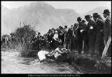 Image of Photograph of a Founders Day tug-of-war between the College and High School students