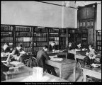 [Library in the High School (Education) Building, ca. 1913]