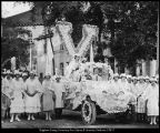 [Automobiles in the 1914 Founder's Day parade]