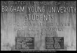 [Plaque honoring the University's World War I dead, n. d.]