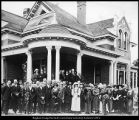 Image of Albert D. Swensen photograph of reception for President and Mrs. Franklin S. Harris