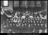 Image of Photograph of the inauguration ceremony for Franklin S. Harris
