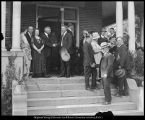 Image of Photograph of  Franklin S. Harris shaking hands with William H. Snell at reception