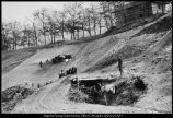 [Grading the hillside for the stadium, 1928]