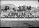 [LDS Explorers at the hillside stadium, 1960s]