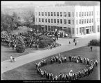 Image of Photograph of dedication ceremony for the Brimhall Building