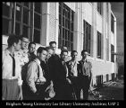 Image of Photograph of campus coordinating committee for the Joseph Smith Memorial Building