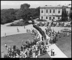 Image of Photograph of commencement processional to the Joseph Smith Memorial Building