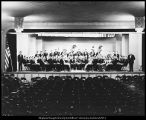 Image of Photograph of concert band on the stage in College Hall