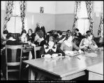 Image of Photograph of Vilate Elliot and her domestic arts class on Lower Campus