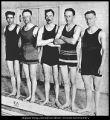 Halftone print of Brigham Young University swim team