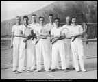 Photograph of 1938 Brigham Young University tennis team