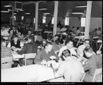 Image of Photograph of temporary building housing Wymount cafeteria