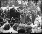 Image of Photograph of groundbreaking ceremony for the Carl F. Eyring Science Center