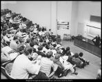 "[""Snake pit"" lecture room in the Eyring Science Center, ca. 1950]"