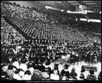 Image of Photograph of commencement in the Smith Fieldhouse
