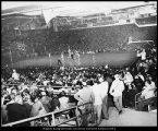 Image of Photograph of basketball game in the Smith Fieldhouse