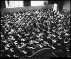 Image of Photograph of freshman orientation examination in the Smith Fieldhouse