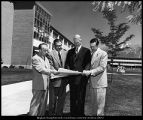 [President Wilkinson and three of his vice-presidents, 1957]