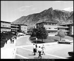 [A new group of apartment buildings in Heritage Halls, ca. 1957]