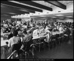 [Cafeteria area in the Cannon Center, 1960s]