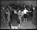"[Students dance the ""lindy,"" 1950s]"