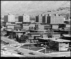 Photograph of Deseret Towers taken from the Wilkinson Center