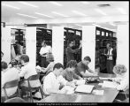 Image of Photograph of open stacks in the J. Reuben Clark Jr. Library