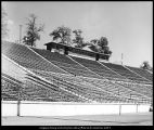 [The new pressbox at the old stadium, 1960s]