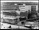 Image of Photograph of Harris Fine Arts Center under construction