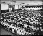 Image of Photograph of senior banquet in the Ernest L. Wilkinson Center ballroom
