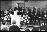 [President Oaks was the speaker at the dedications of the Engineering Sciences and Technology...