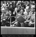 [Mr. and Mrs. J. Willard Marriott at the dedication of the Marriott Center, February 3, 1973]