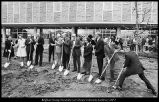 [Groundbreaking ceremonies for the addition to the Harold B. Lee Library, October 29, 1974]