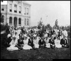 Image of Photograph of a gathering in honor of Karl G. Maeser's fiftieth year of teaching