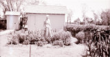 Thelma Harn in her garden