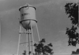 Men painting Dubois Water tower