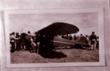 Airport opening, first plane